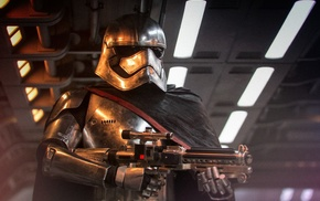 Star Wars Episode VII, The Force Awakens, blaster, armor, stormtrooper, science fiction