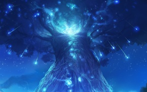 spirits, lights, forest, Ori and the Blind Forest, nature, landscape