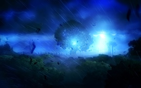 nature, landscape, storm, spirits, Ori and the Blind Forest, lights