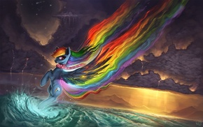 digital art, My Little Pony, artwork, rainbows