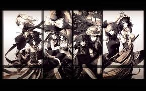 Alice Margatroid, anime girls, Remilia Scarlet, Kirisame Marisa, Hakurei Reimu, Izayoi Sakuya