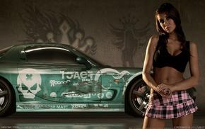 Need for Speed Pro Street, Mazda RX, 7, Krystal Forscutt, car, skirt