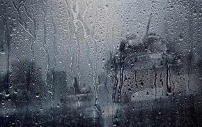 tank, water drops, glass