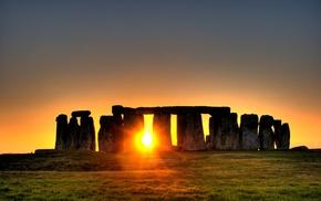 Stonehenge, landscape, England