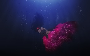 Akemi Homura, dress, headband, thigh, highs, underwater