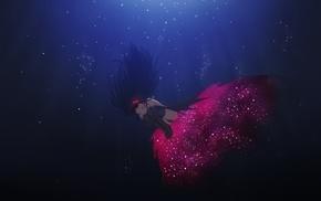 Akemi Homura, dress, headband, thigh, highs, underwater