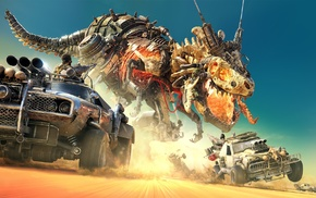 car, skeleton, machine, offroad, T, Rex