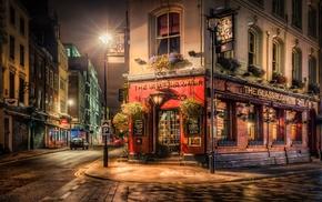 lights, London, night, urban, architecture, pavers
