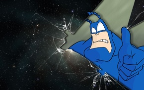 digital art, stars, superhero, space, The Tick, glass