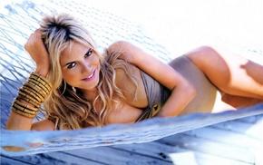 blonde, sunbathing, Heidi Klum