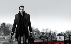 Liam Neeson, actor, celebrity, A Walk Among the Tombstones, selective coloring, trees
