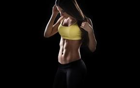 brunette, sports bra, fitness model, yoga pants, girl, Jen Selter