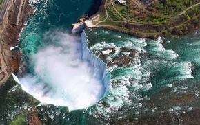 waterfall, Niagara Falls, Canada, summer, trees, river
