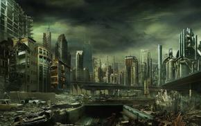 dystopian, artwork, futuristic, apocalyptic