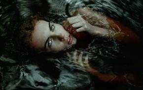 water, wet, girl, blue eyes, wet hair, wet body