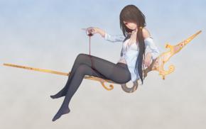 anime girls, pantyhose, Tokisaki Kurumi, red eyes, Date A Live, anime