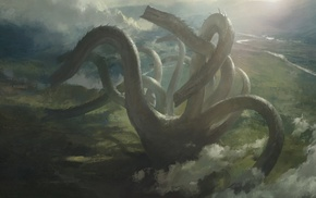 fantasy art, hydra, Mazert Young