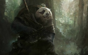 magic, World of Warcraft Mists of Pandaria, fantasy art, panda, Mazert Young