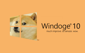 Windows 10, dog, doge, memes, Microsoft Windows
