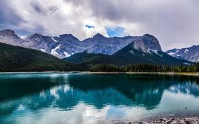 Alberta, water, Canada, nature, lake, mountain