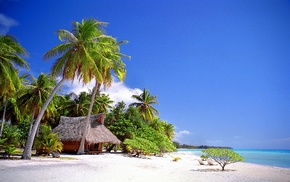 sea, tropical, Vacations, cabin, beach, landscape