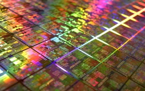 colorful, DIE, CPU, microchip, technology, IT