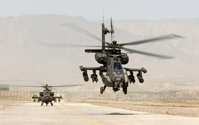 desert, military aircraft, helicopters, Boeing AH, 64 Apache