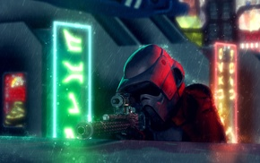 snipers, rain, Star Wars, fan art, stormtrooper