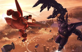 Kingdom Hearts 3, Sora Kingdom Hearts, Baymax, Kingdom Hearts, video games, crossover