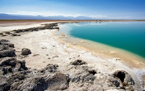 landscape, nature, water, clouds, Atacama Desert, Chile