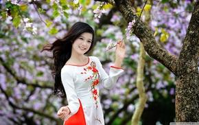 Asian, vietnamese, o di, girl