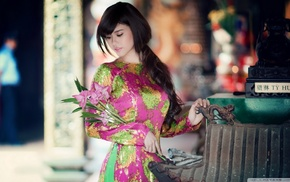 vietnamese, o di, girl, Asian