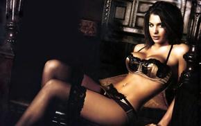 diffused, model, Gemma Atkinson, lingerie, girl
