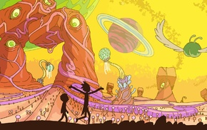 space, Adult Swim, animation, Rick and Morty, planet