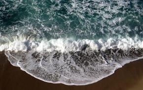 nature, waves, beach