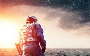 Matthew McConaughey, stars, clouds, Interstellar movie, movies, actor