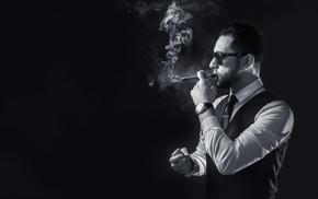 watch, cigars, smoke, smock, smoking, men