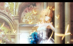 Fate Series, anime girls, FateStay Night, anime, wedding dress, Saber