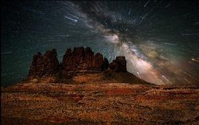 mountain, space, nature, universe, galaxy, erosion