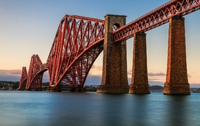 Forth Bridge, UK, Scotland, Edinburgh, water, architecture