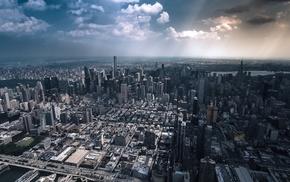 cityscape, building, clouds, skyscraper, city, New York City