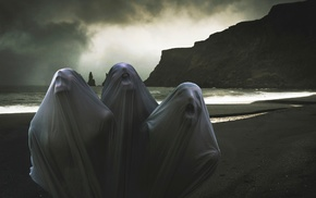 sea, ghost, death, landscape, artwork, spooky