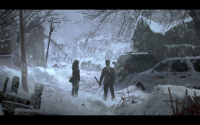 apocalyptic, snow, abandoned, The Last of Us