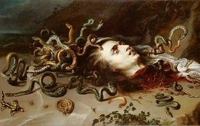 artwork, painting, Medusa, Peter Paul Rubens