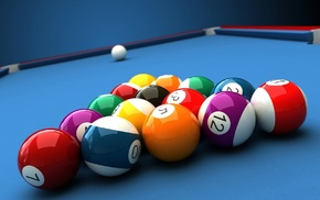 colorful, numbers, CGI, render, ball, depth of field