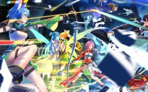 Yuuki Asuna, Asada Shino, anime girls, Sword Art Online, Ayano Keiko, Swordsouls
