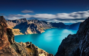 nature, clouds, mountain, morning, long exposure, turquoise