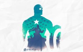 The Avengers, silhouette, Captain America