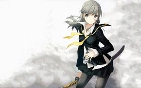 sword, Persona 4, Narukami Yuu, Persona series, genderswap, anime
