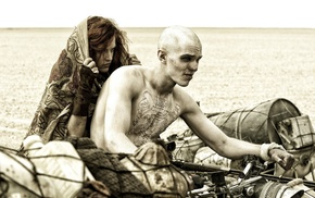 men, motorcycle, actor, Mad Max Fury Road, Riley Keough, redhead